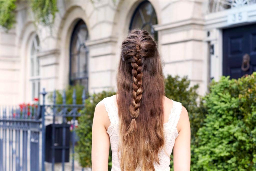 '80s hairstyles we love braided half-updo