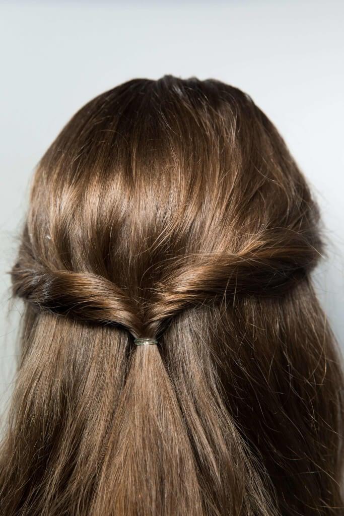 wedding hairstyles for thin hair half up twist