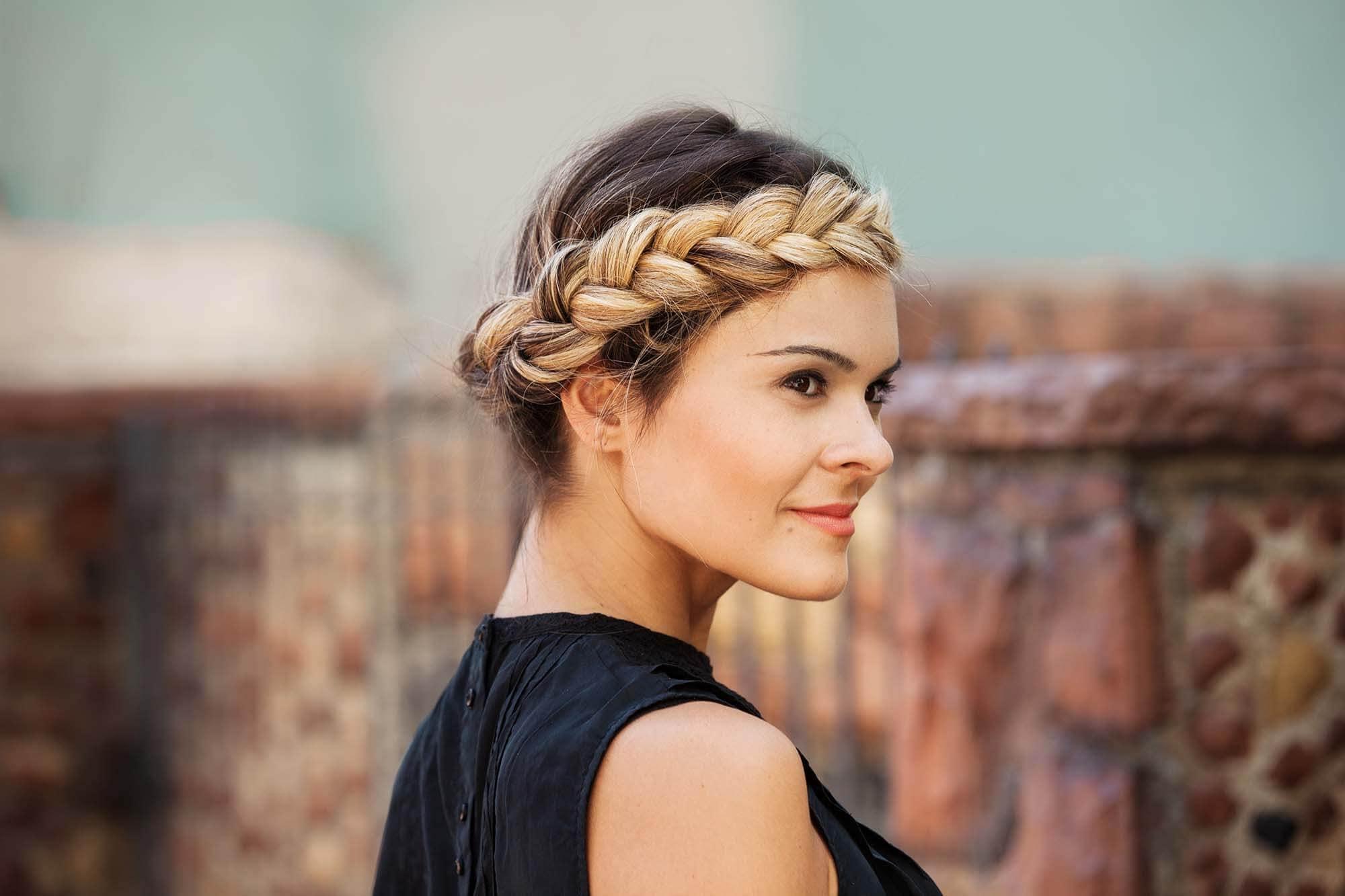 Dark Blonde Hair Halo Braided crown