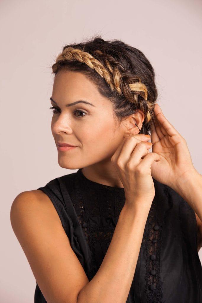 halo braid step 8 secure as headband
