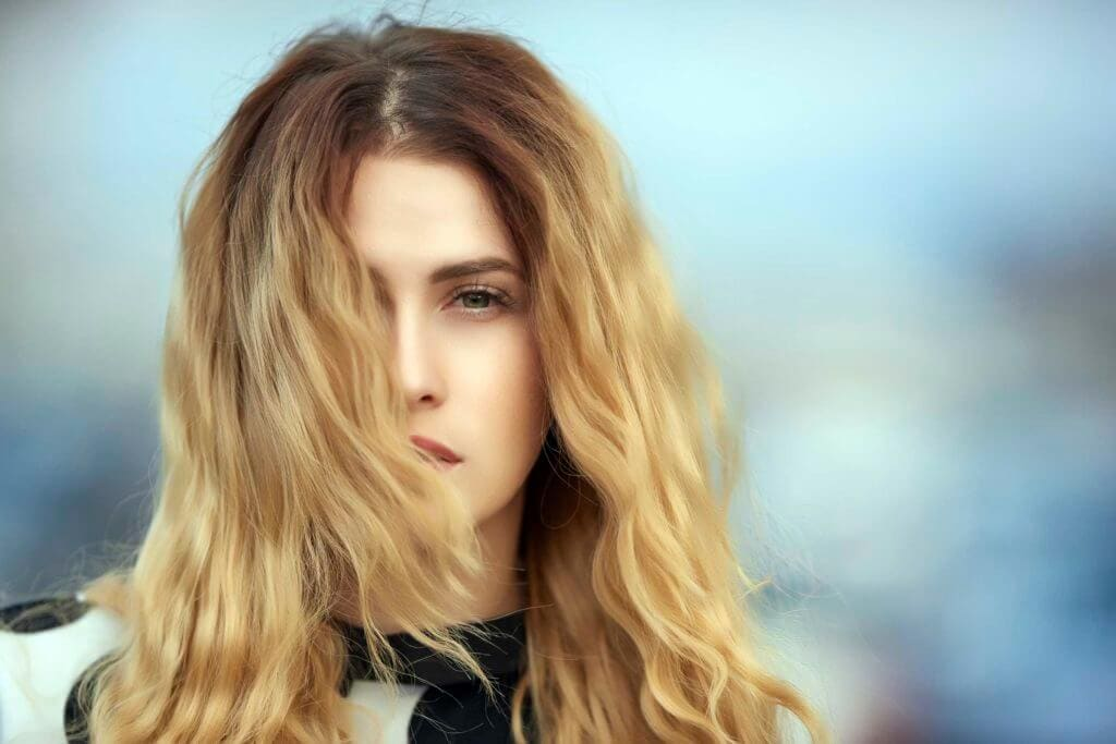 light brown hair color mid length ombre