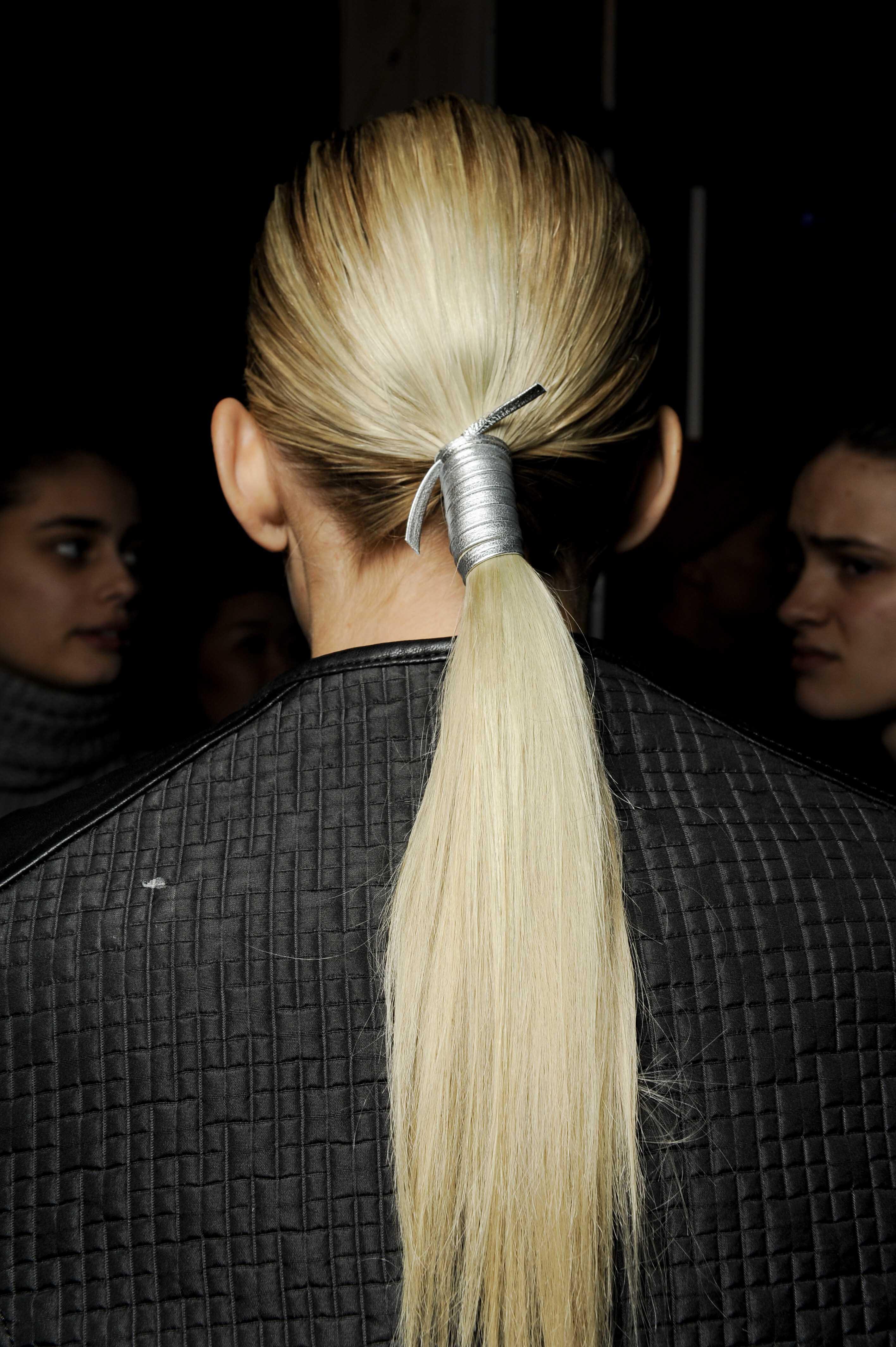 best bridal hair trends sleek pony