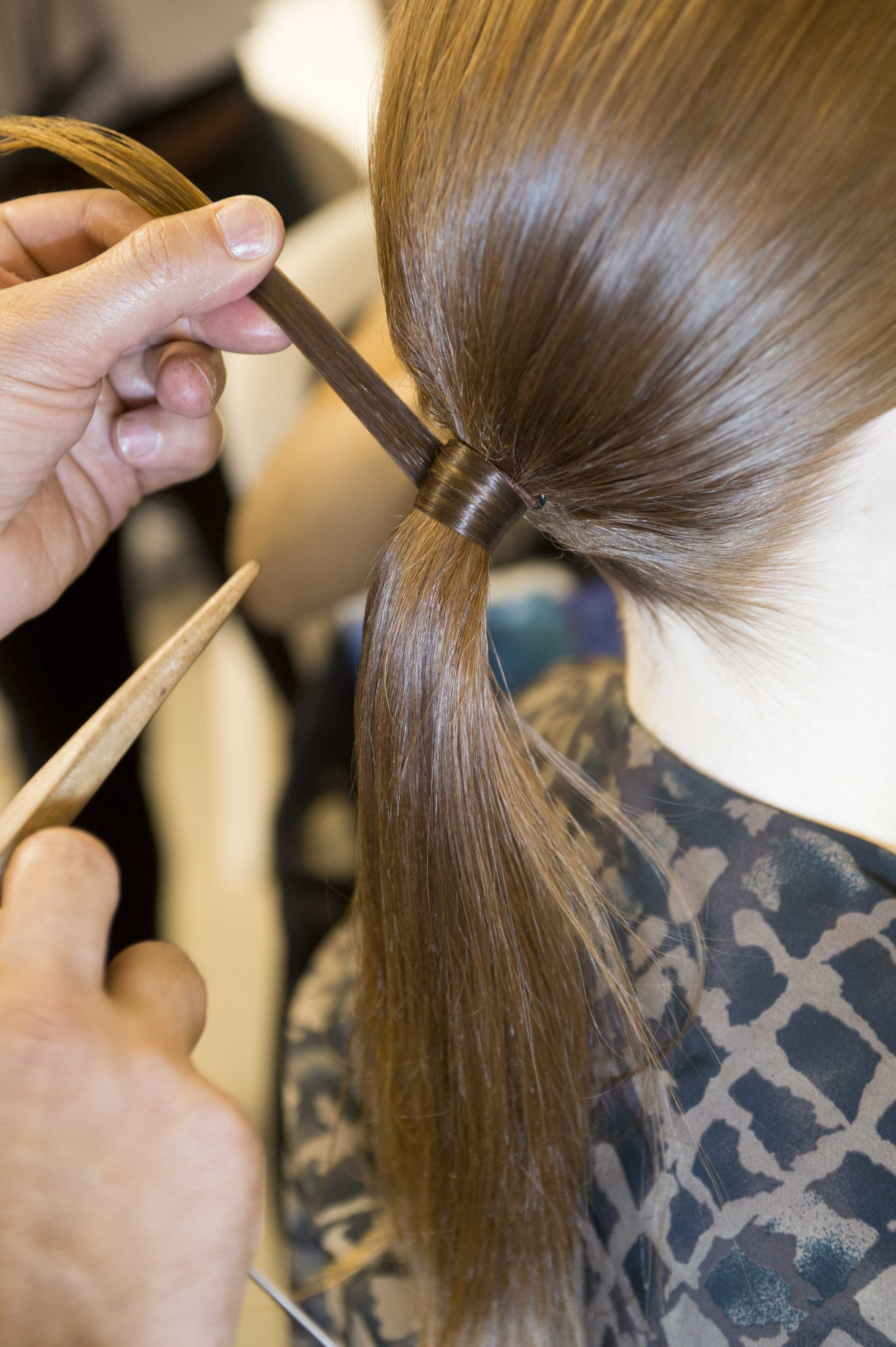 Hairstyles for thick hair low pony