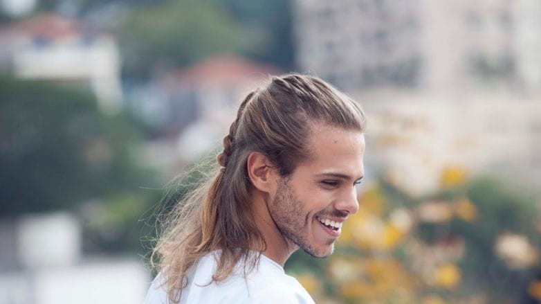 hairstyles for guys with long hair braided hairstyle