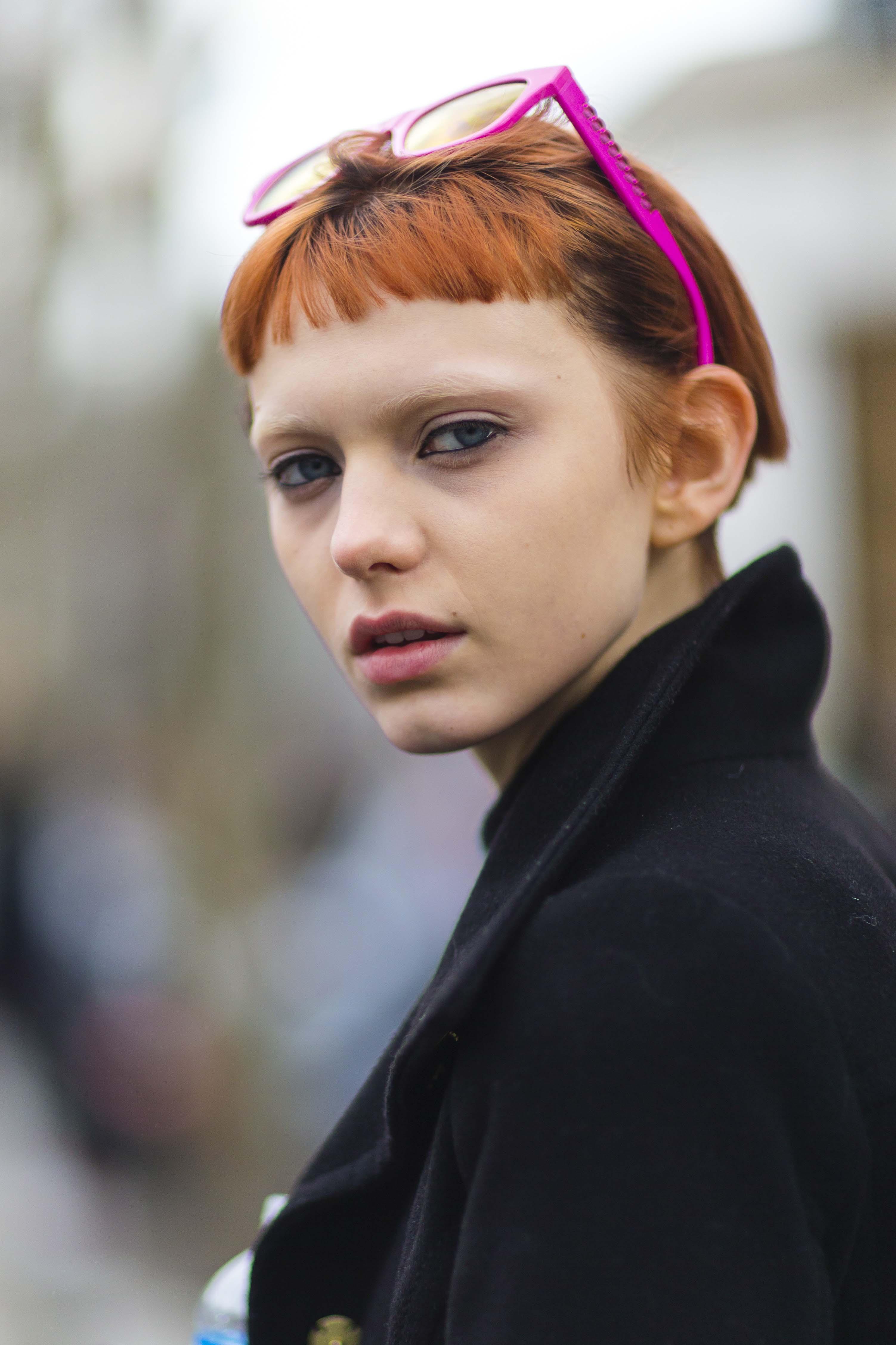 temporary hair color orange hair