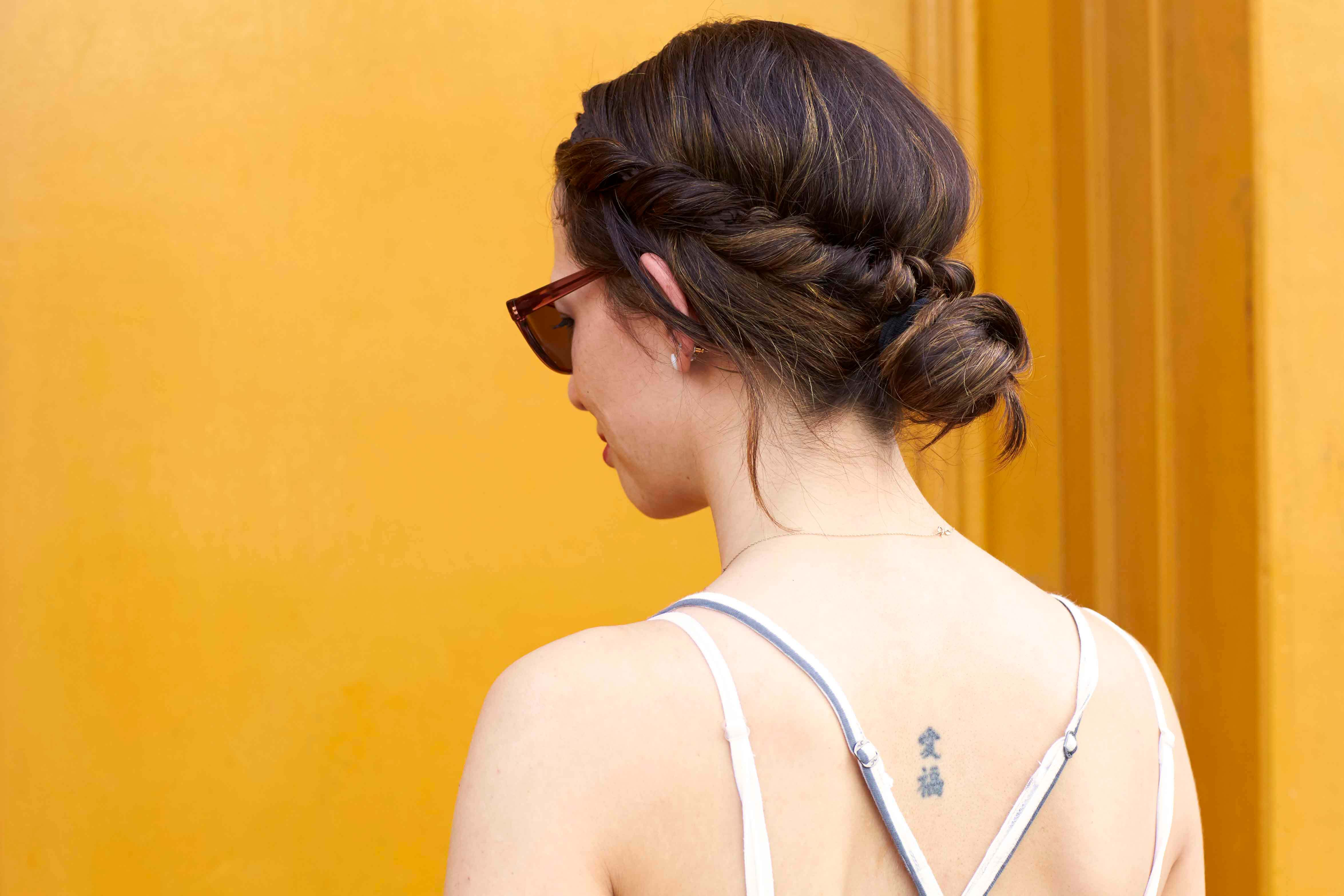 easy concert hairstyles twisted bun