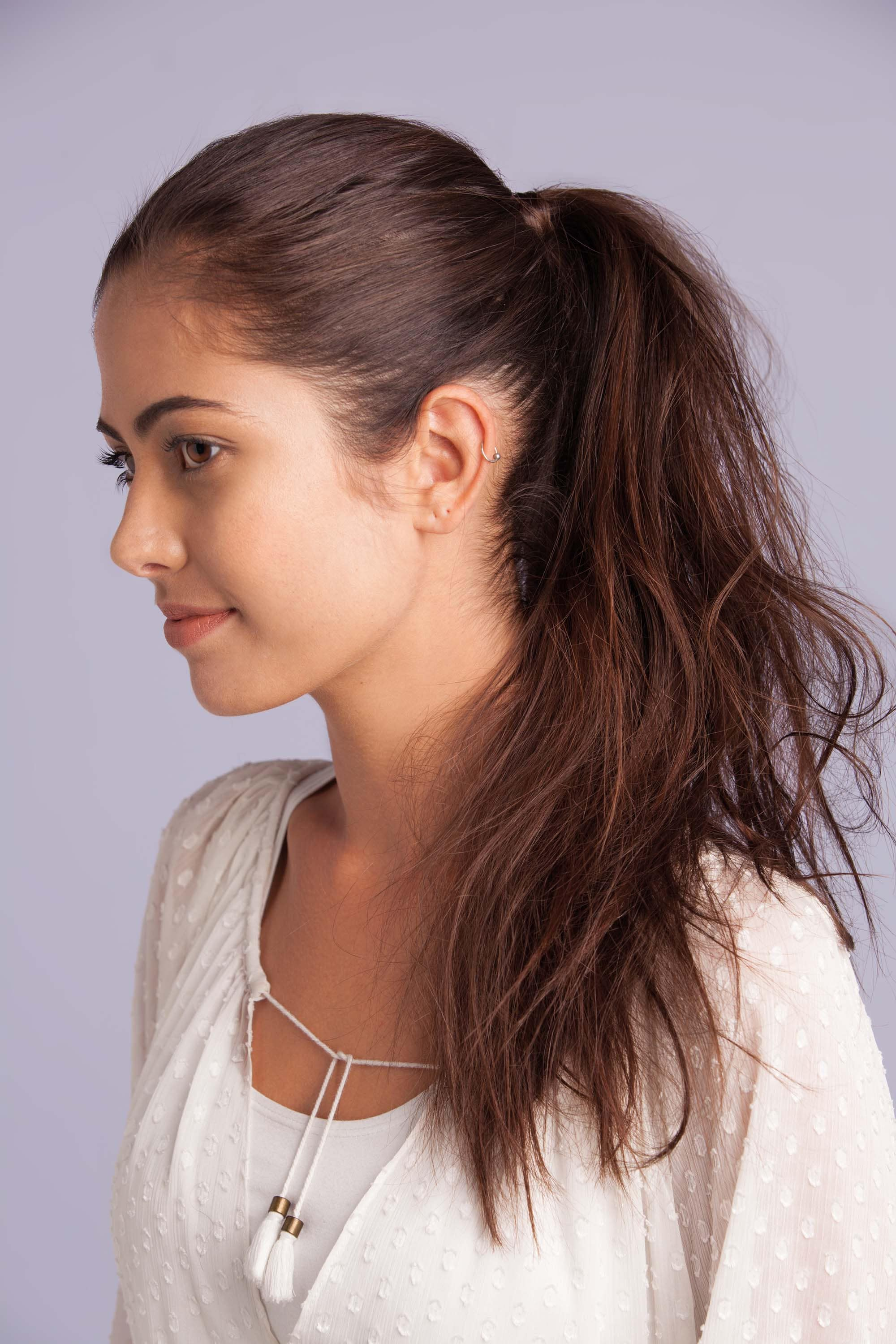 best hairstyles for thin hair ponytail