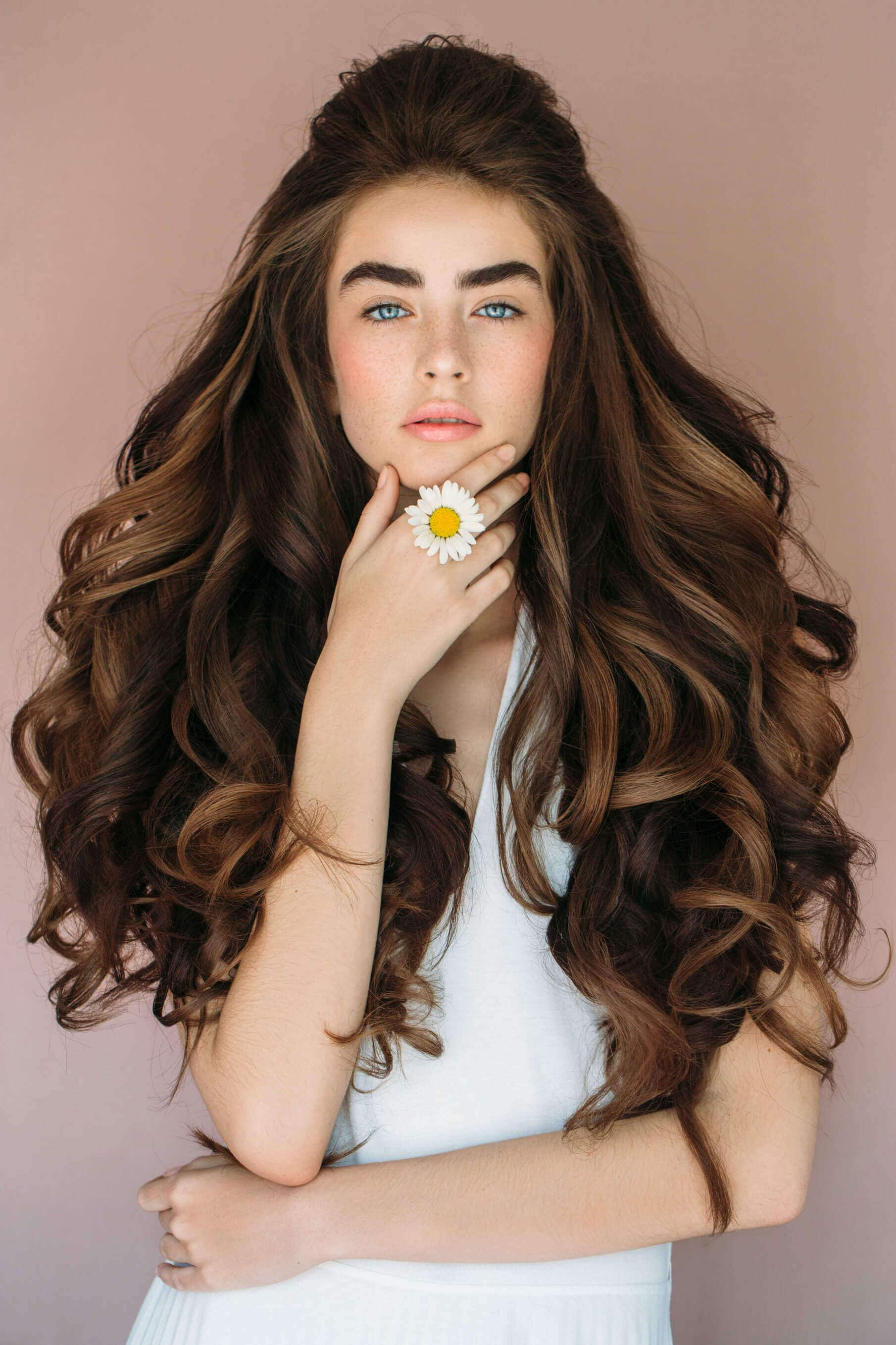 dry hair long curls