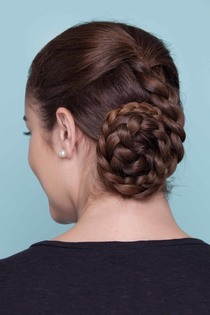cool summer hairstyles double chignon