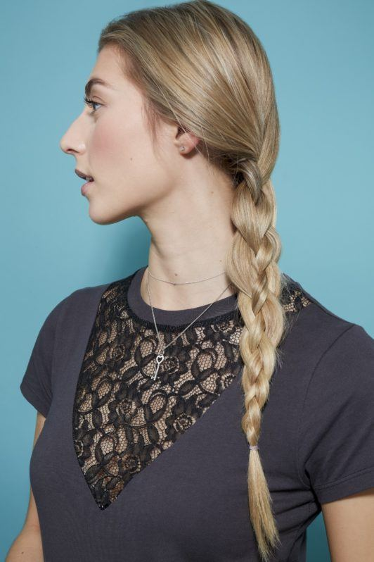 four strand braid finished look