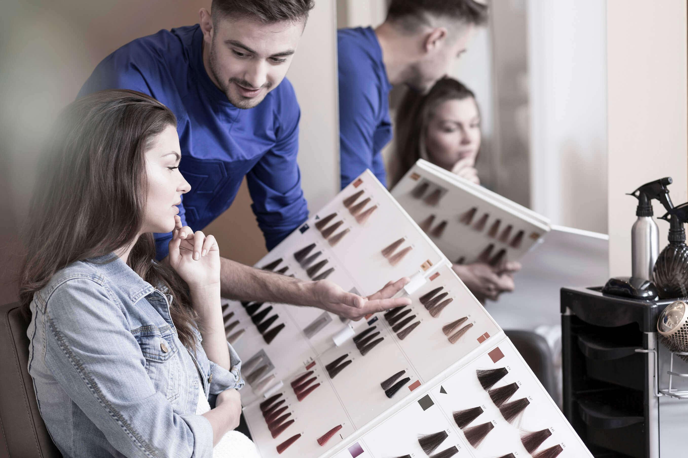 hair salon color chart