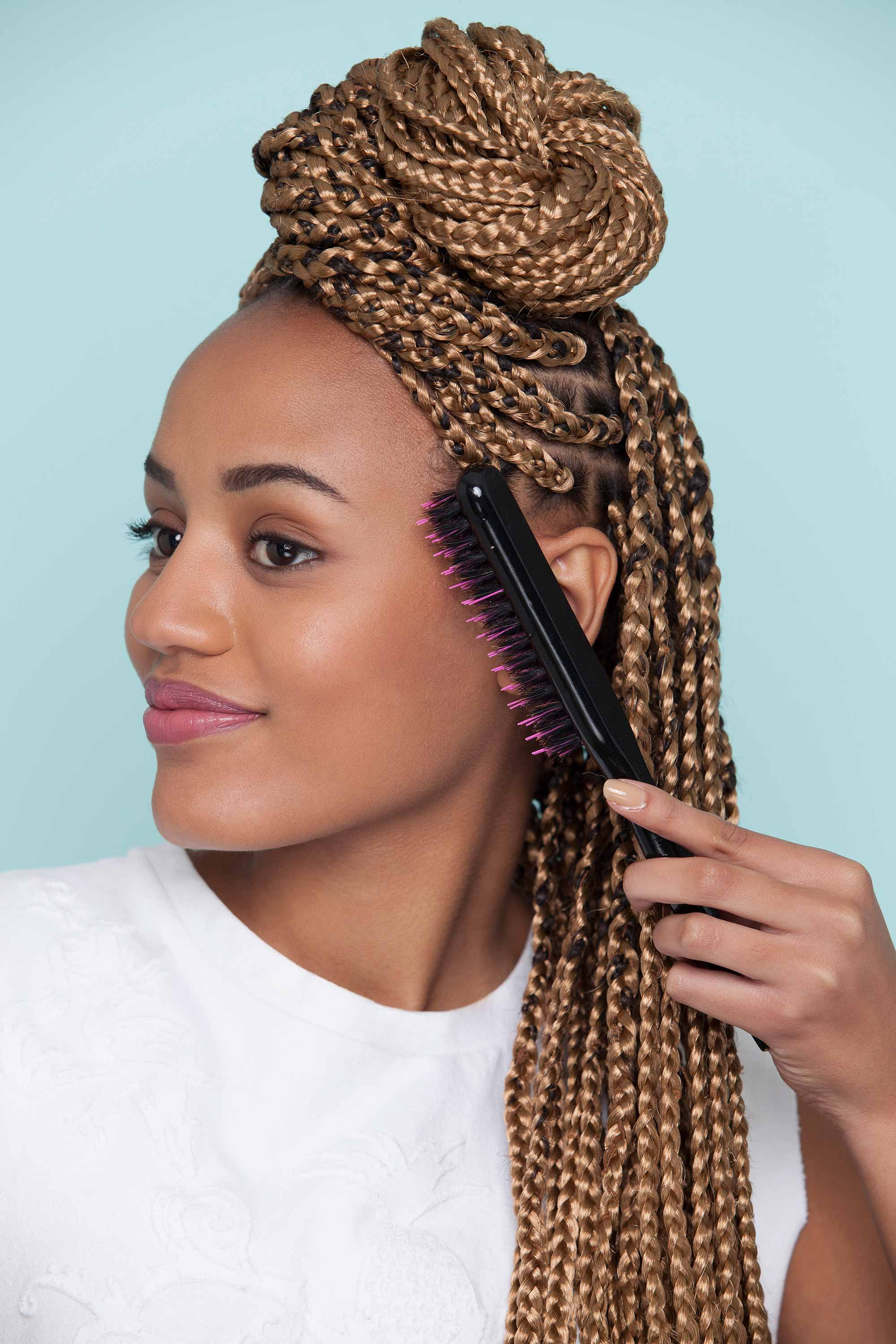 styles with box braids and smooth edges