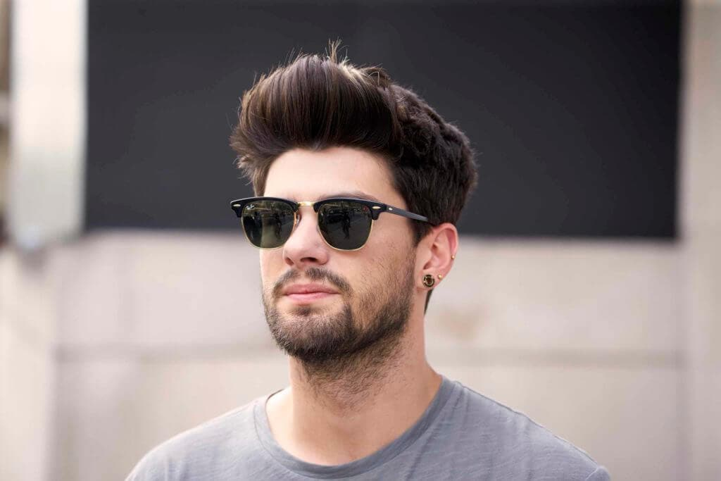 man with pompadour hairstyle