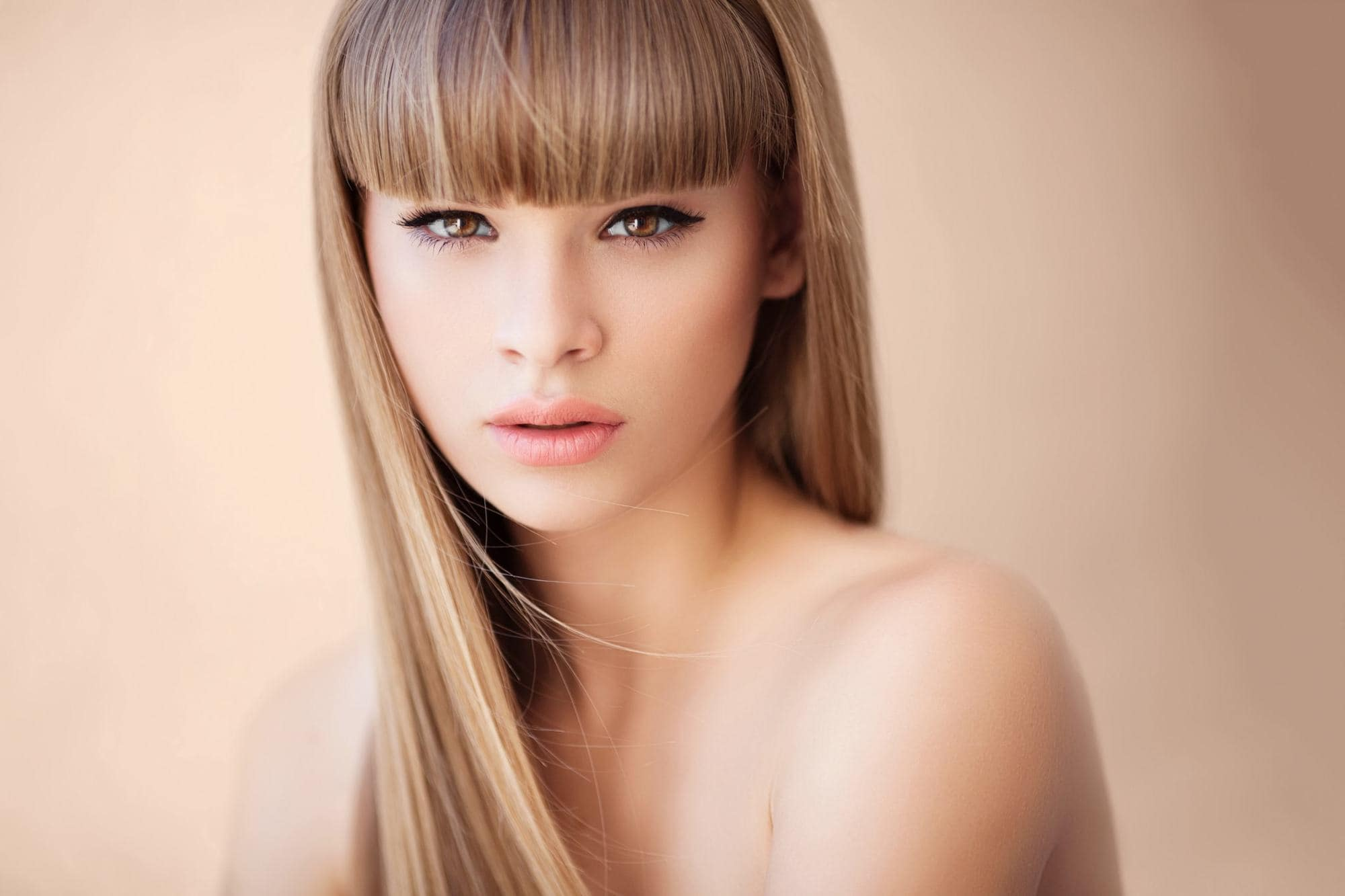 new hairstyles for long hair blunt bangs