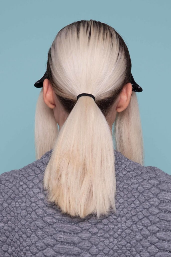 single knot ponytail sections