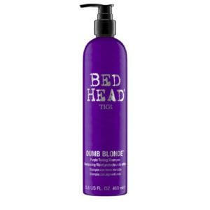 bed head purple dumb blonde toning shampoo front view