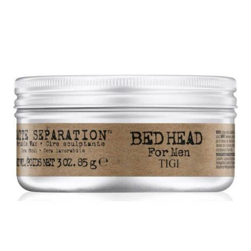 bed head for men by tigi matte separation workable hair wax front view