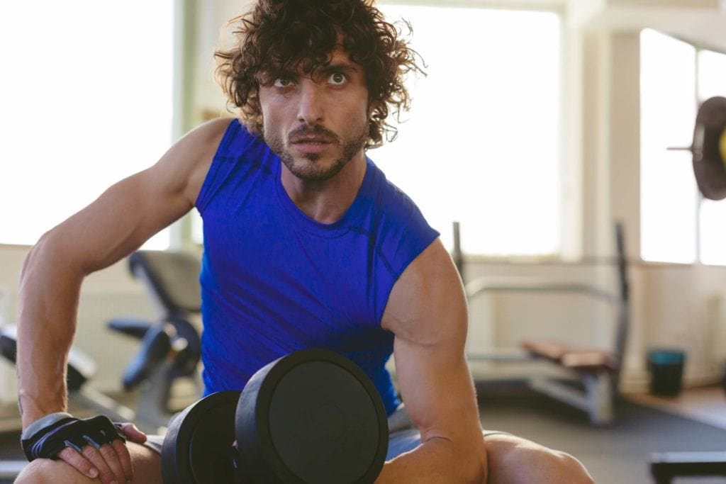 80s hair curly gym hair