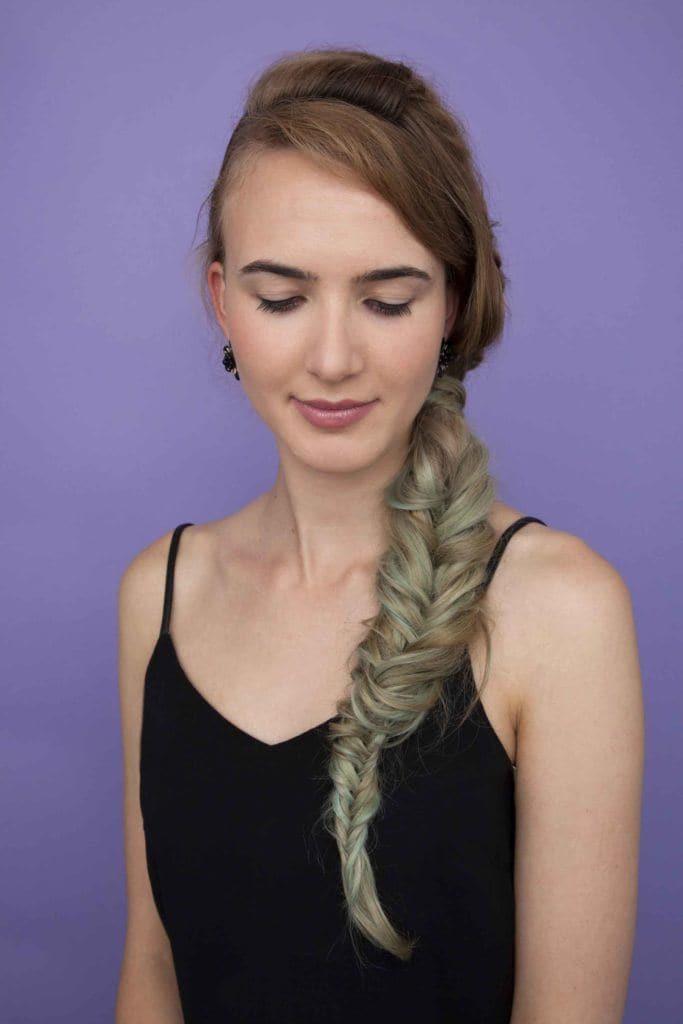 halloween hair ideas subtle color