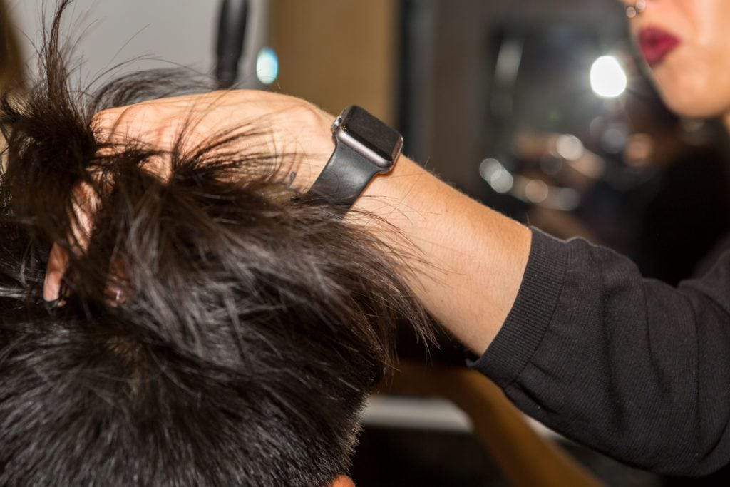pompadour hairstyle blowdry straight asian