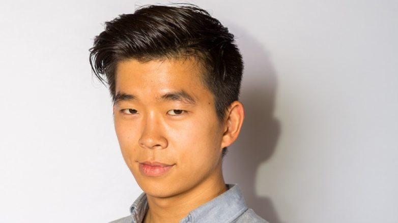 mens pompadour hairstyle gelled asian hair