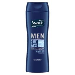 Suave Men Classic Clean Anti Dandruff 2 In 1 Shampoo And Conditioner