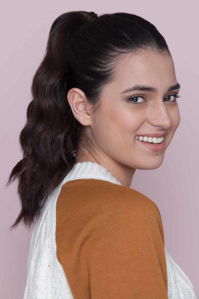 a thick ponytail awesome look to try