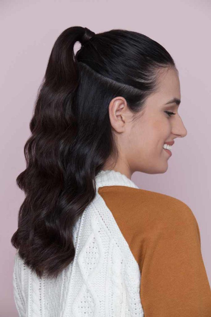 Thick Ponytail half ponytail