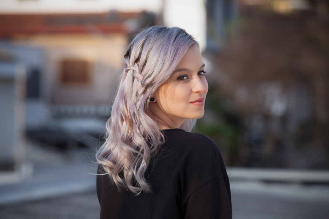 how to do a waterfall braid lilac waves