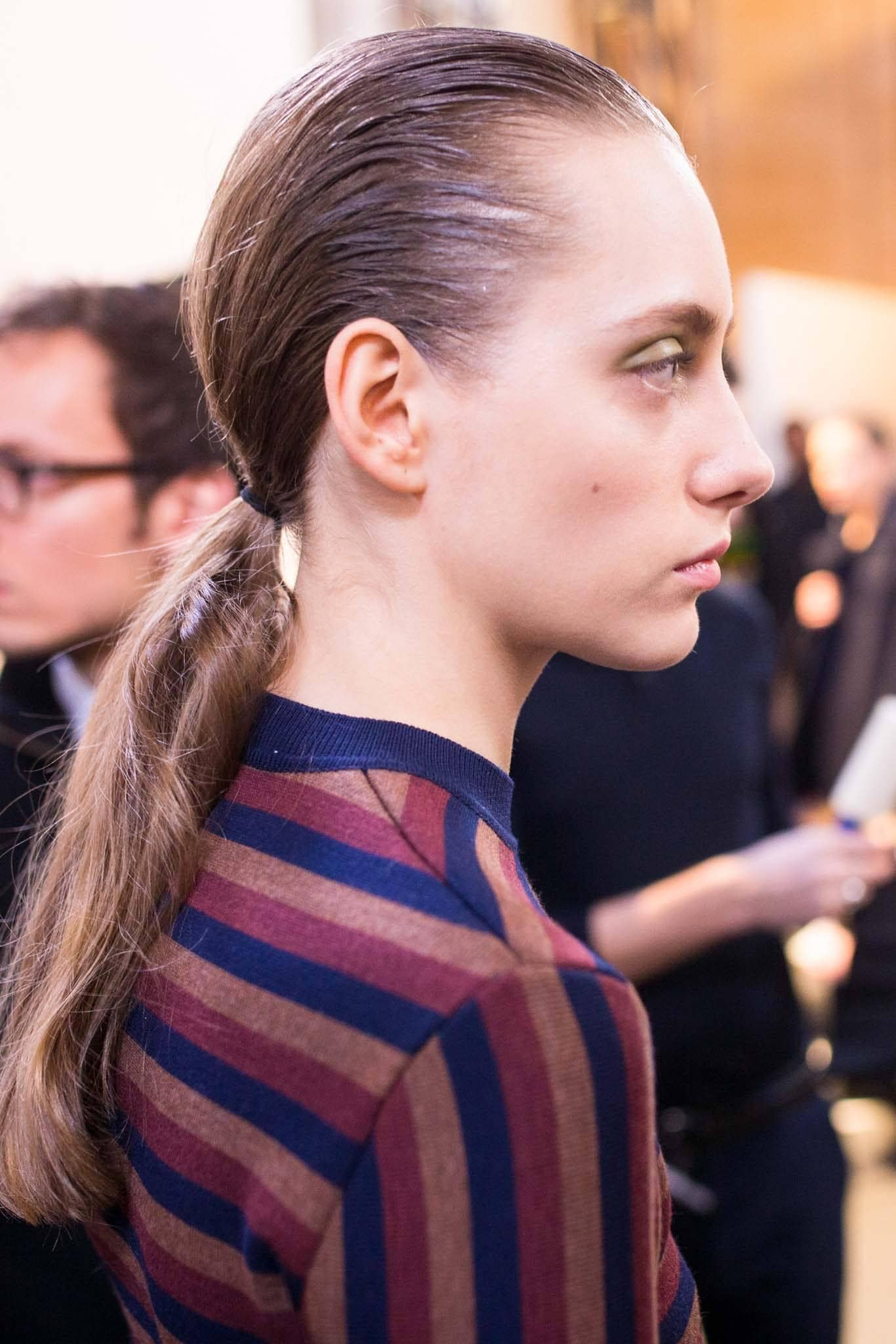 textured ponytail party hair