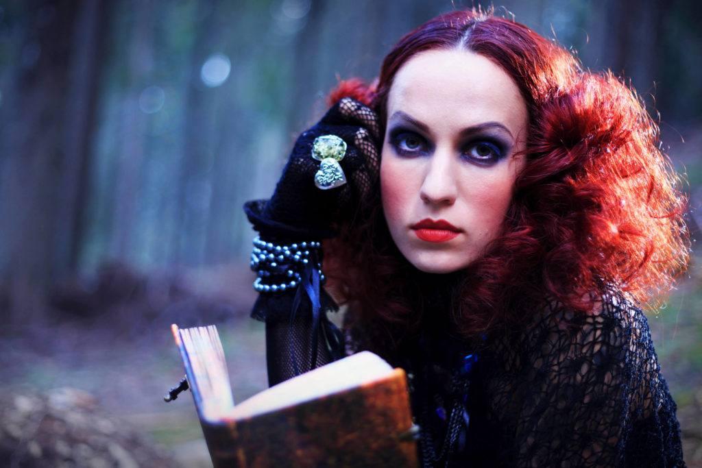 halloween hair color ideas deep red