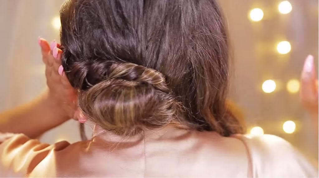 chignon updos for long hair wrap twist