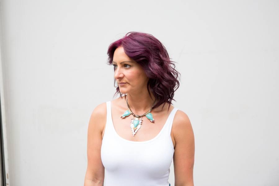 Rasberry purple hair