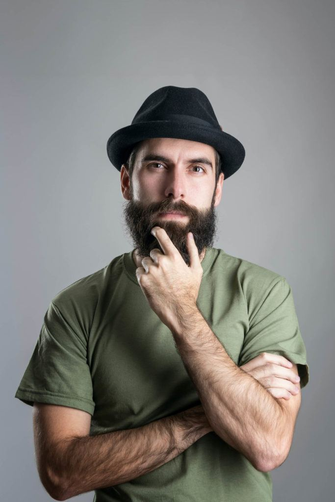 full beard and mustache hat