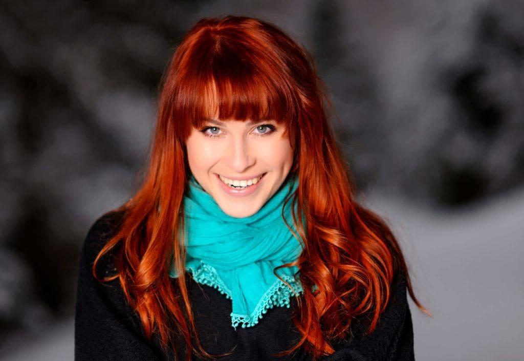 festive hair color ideas red