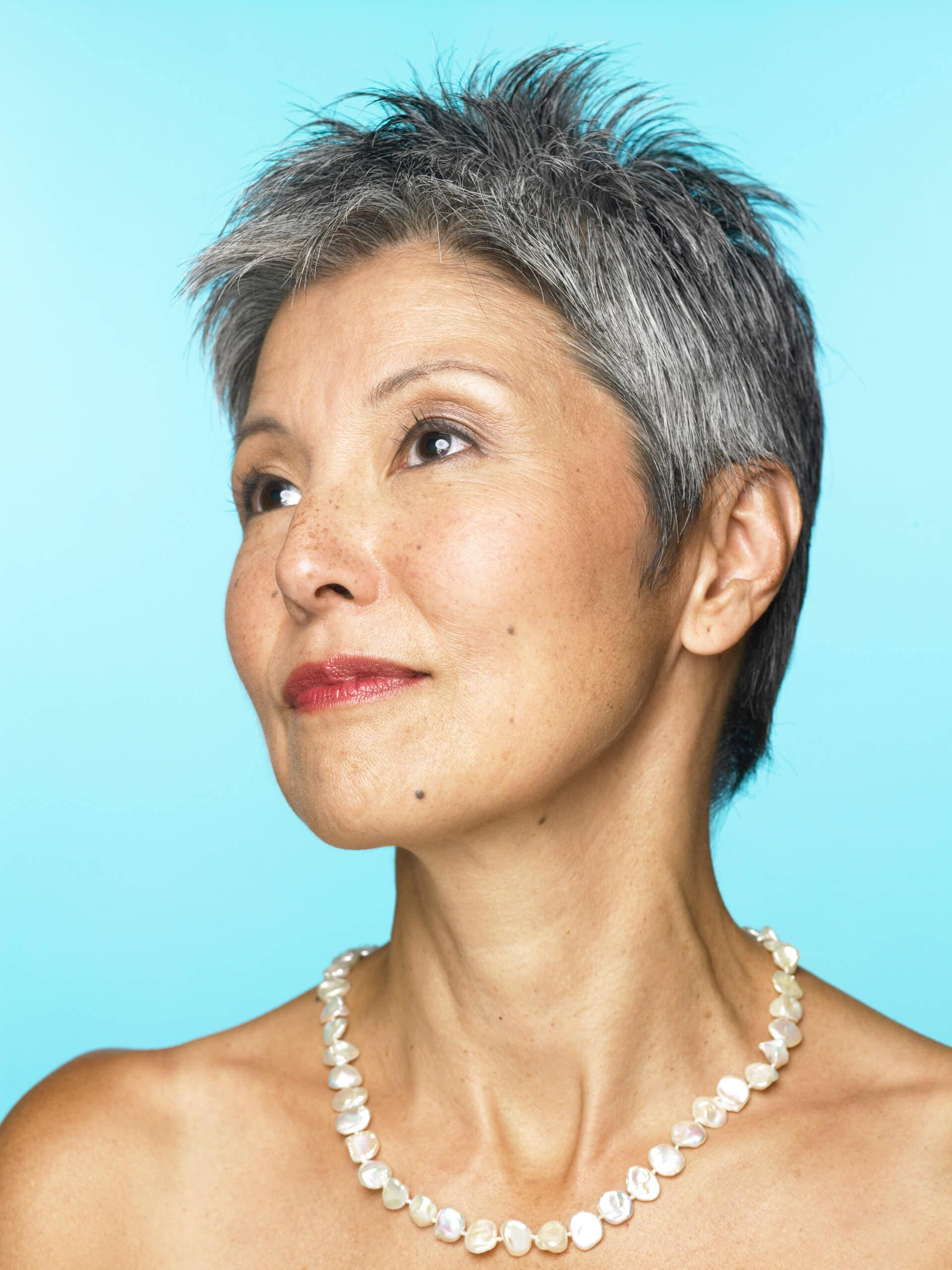 Short Hairstyles for Older Women bold pixie