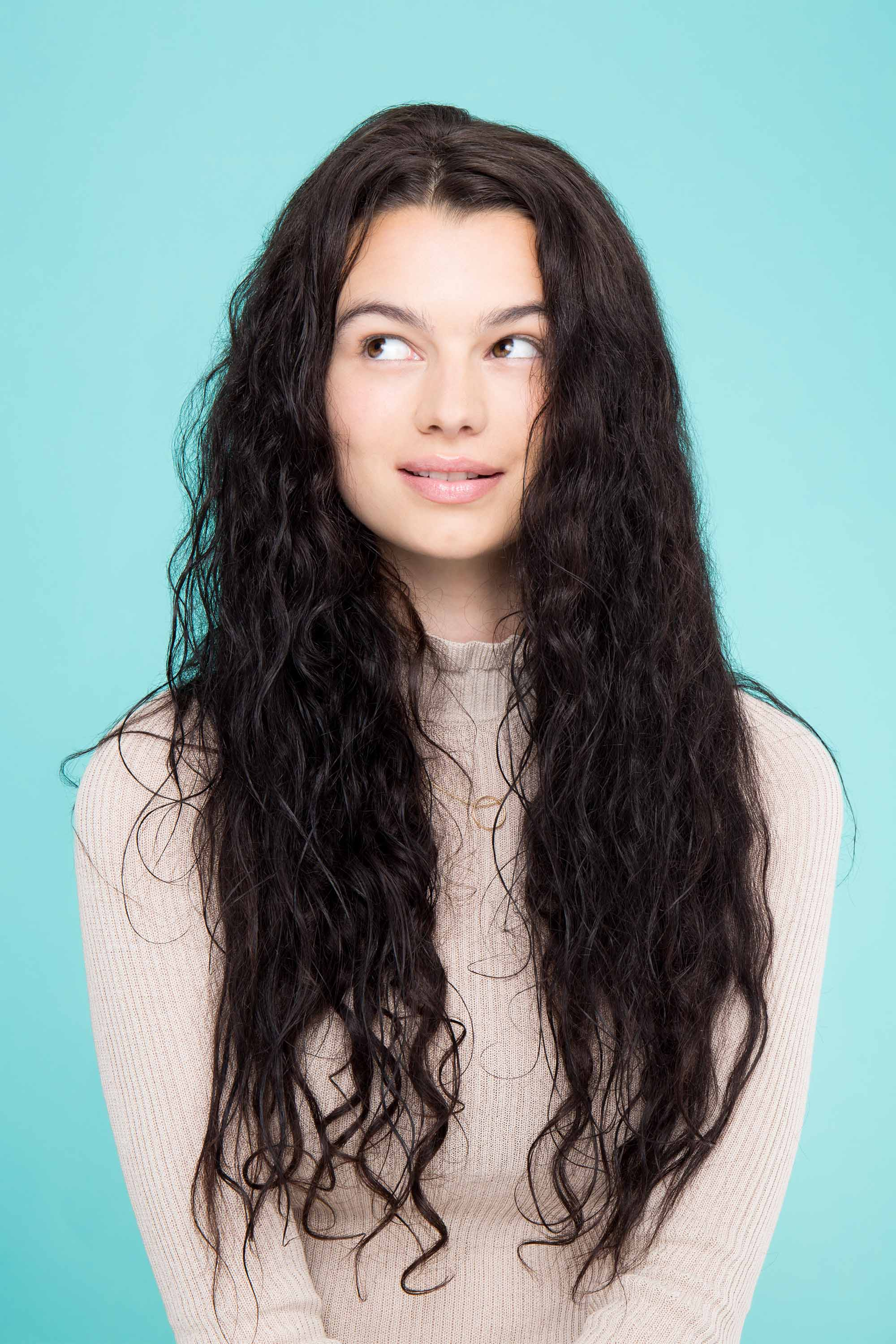 air-dry hair for winter