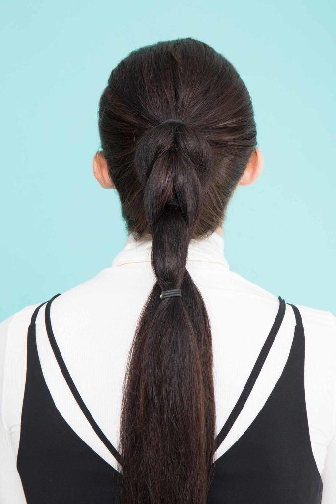pull through braid ponytail repeat