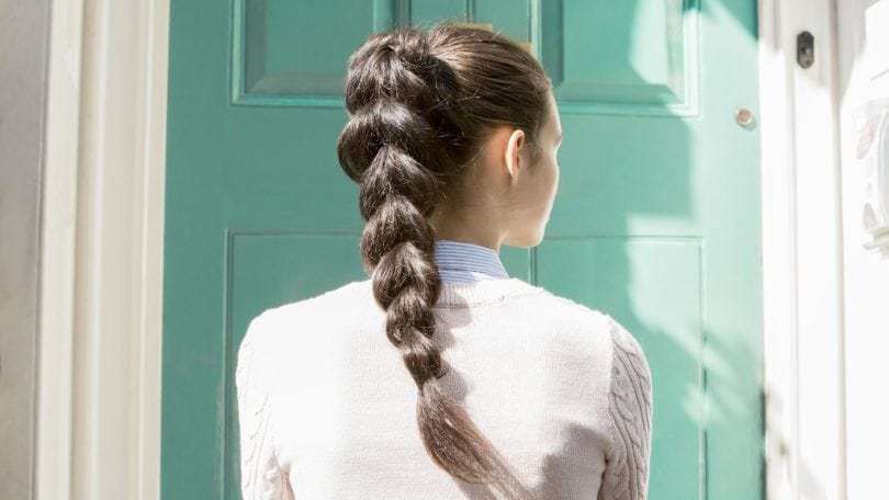 pull through braid ponytail tutorial