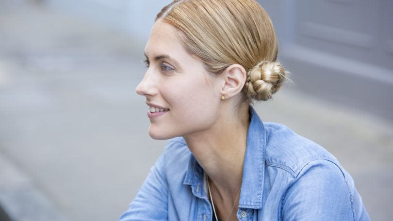 updo hairstyles for short hair modern braided space buns
