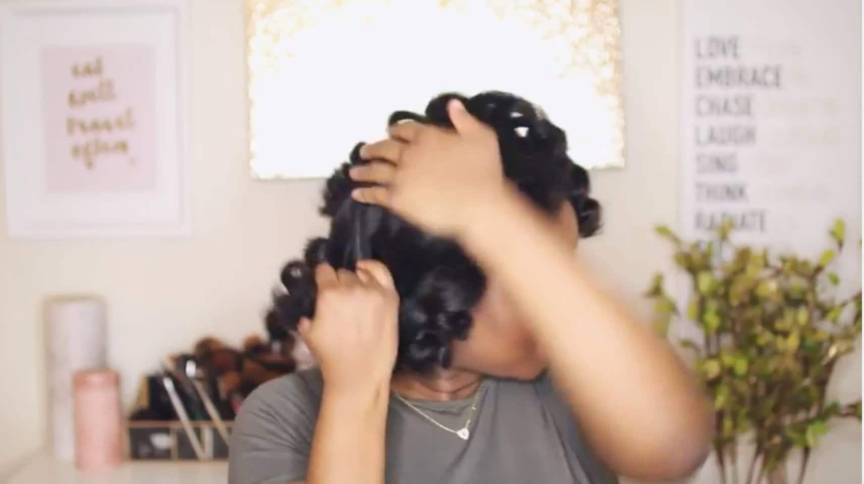how to curl short hair pin back