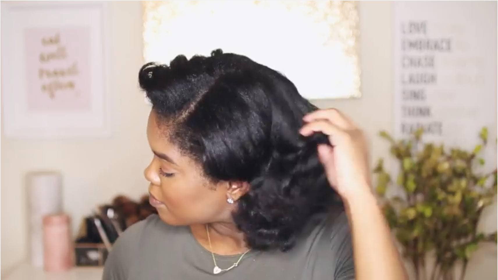 how to curl short hair pin back curls