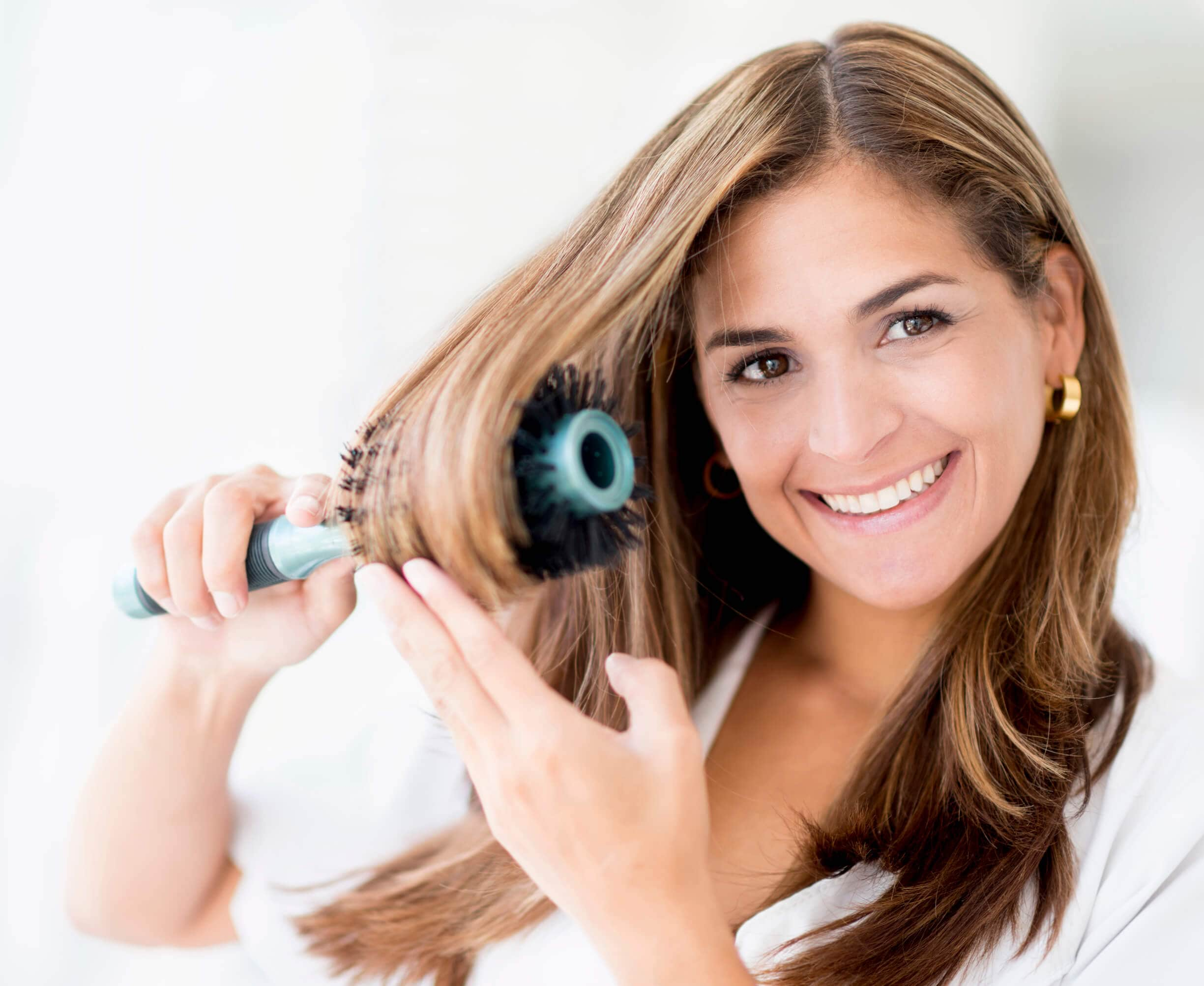 how to get glossy hair boar bristle brush