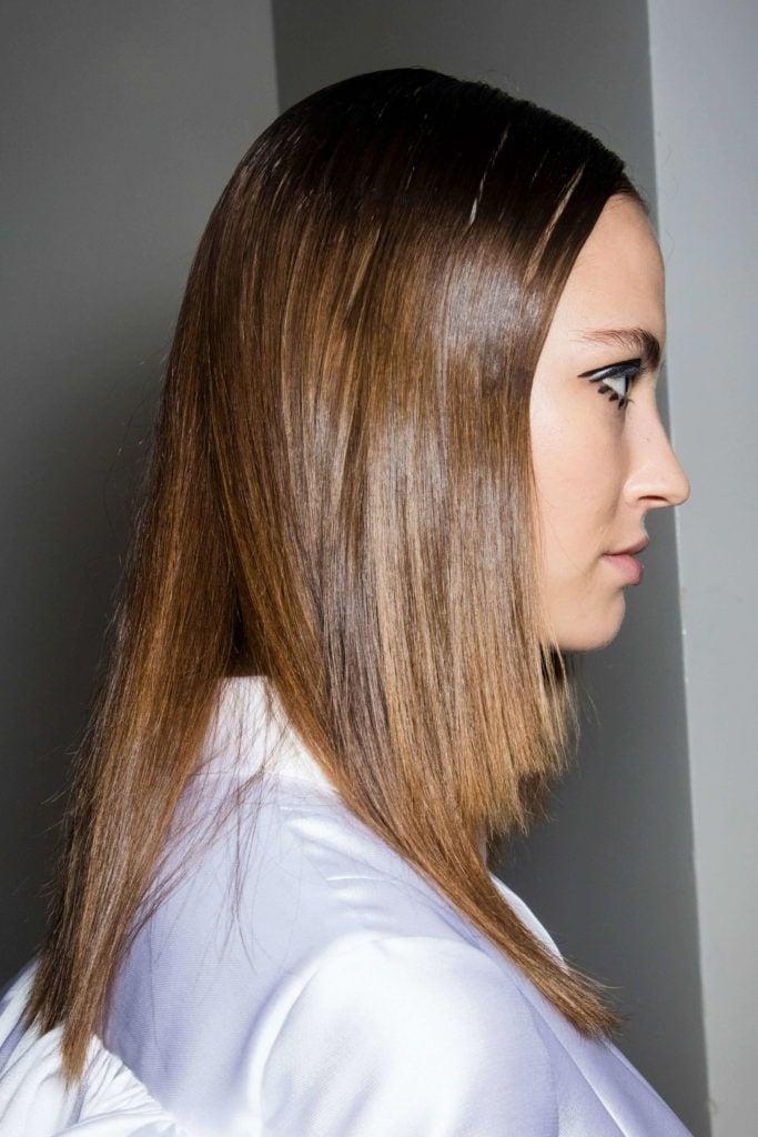 flat iron hairstyles sleek and straight