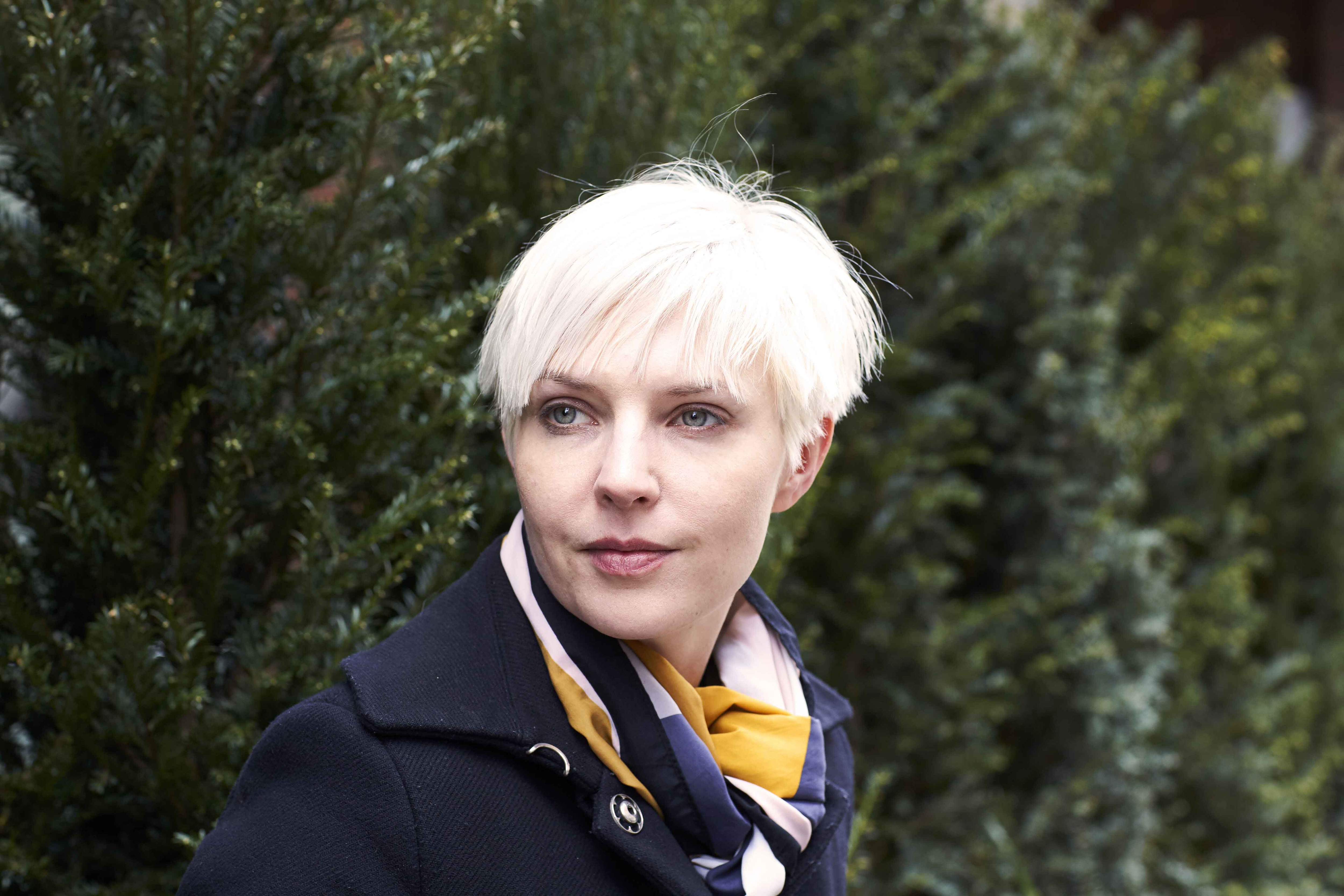 white blonde hair cropped pixie