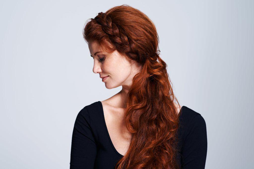 hair ideas braided pony