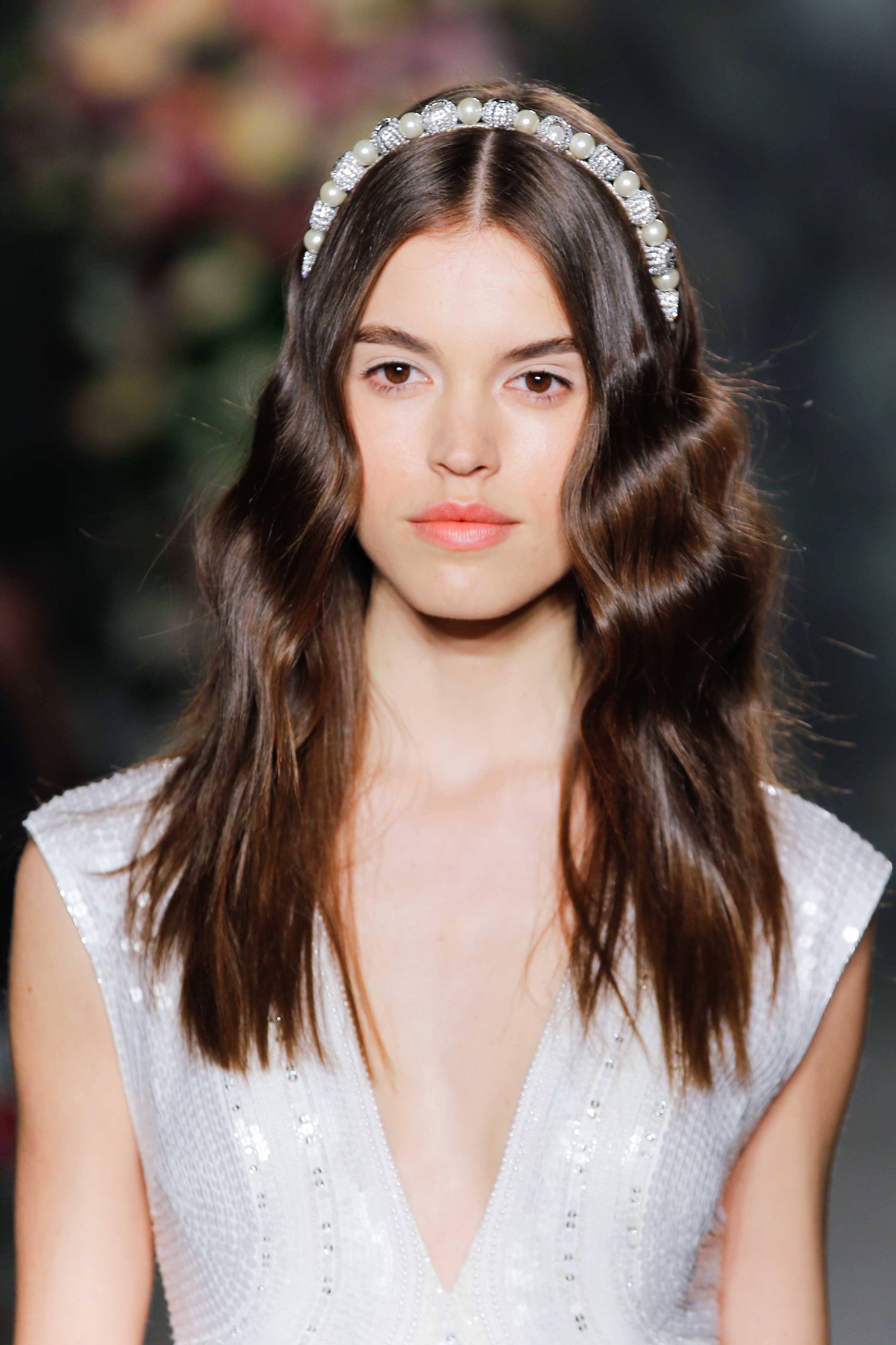 headband hairstyles pearl diamond headband