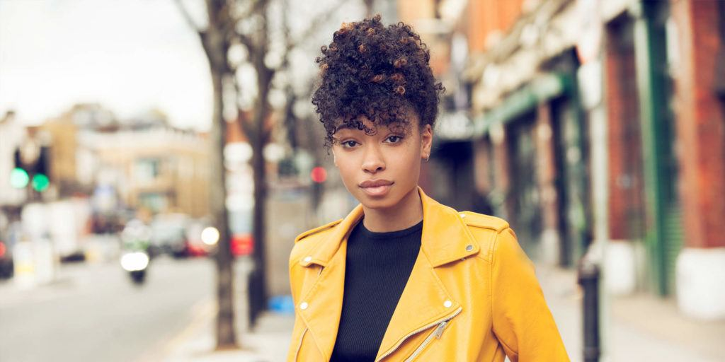 hairstyles for thick curly hair Pineapple updo
