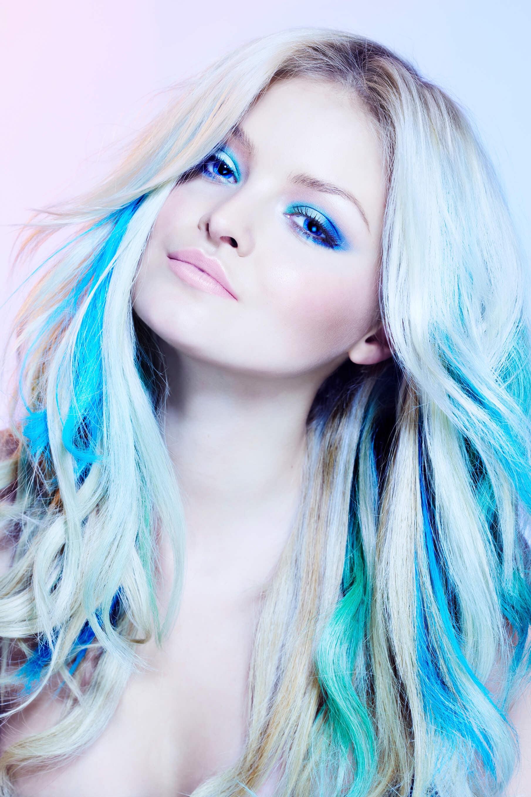 partial hair highlights bold color