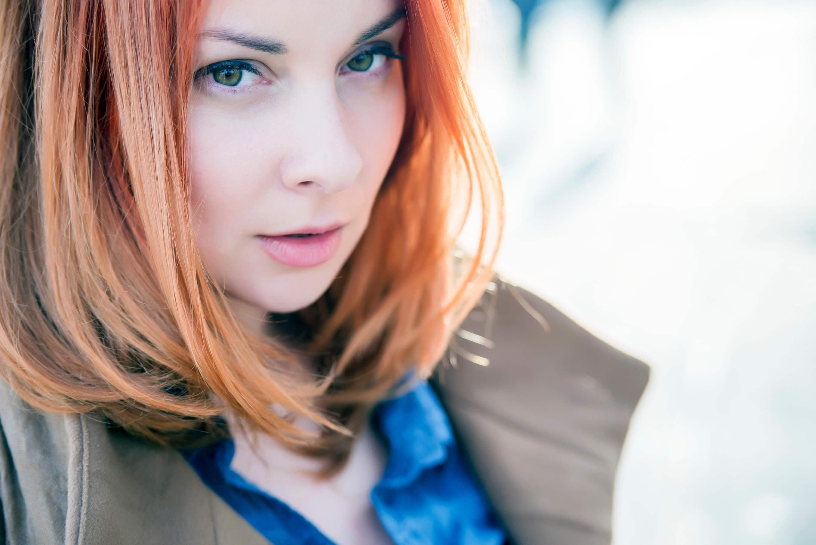 sombre hair ginger hair